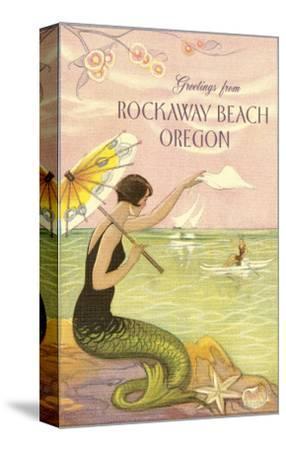 Mermaid Waving from Rockaway Beach, Oregon