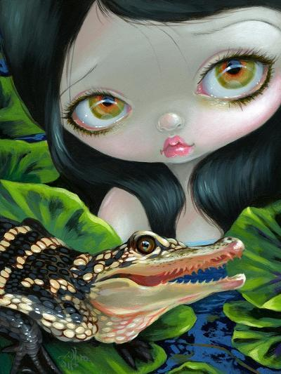 Mermaid with a Baby Alligator-Jasmine Becket-Griffith-Art Print