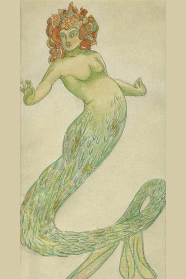 Mermaid-Hannes Bok-Art Print