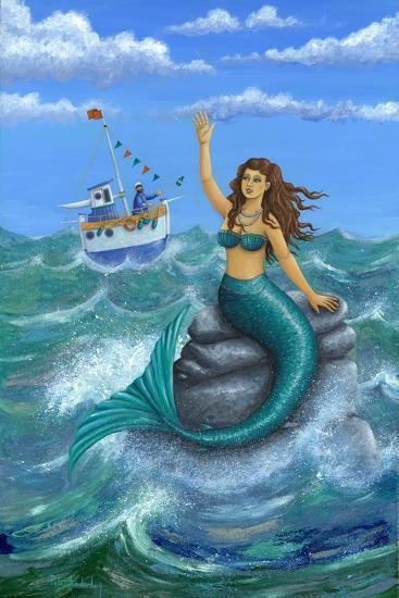 Mermaid-Peter Adderley-Art Print