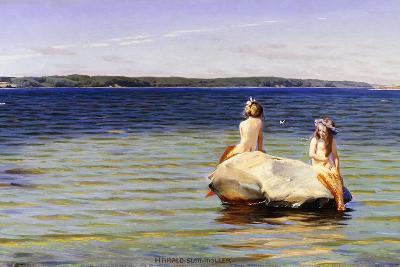 Mermaids-Harald Slott-Moller-Giclee Print