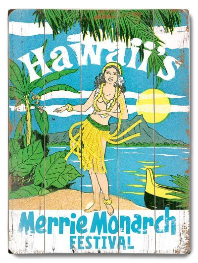 Merrie Monarch Festival--Wood Sign