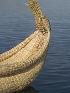 Bow of Reed Boat, Uros Islands, Floating Islands, Lake Titicaca, Peru by Merrill Images