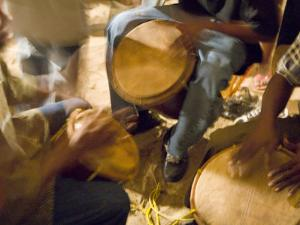 Drum Circle, Garifuna Settlement Day, Hopkins, Stann Creek District, Belize by Merrill Images