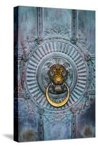 France, Paris, bronze door knocker. by Merrill Images
