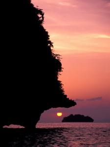 Karst Islands of Andman Sea, Rai Leh Beach, Thailand by Merrill Images