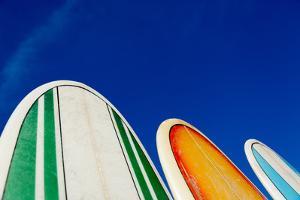Mexico, Baja California, Baja de Sur, Cerritos Beach, surfboard rental shop. by Merrill Images