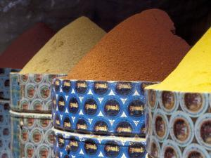 Spices in the Market, Morocco by Merrill Images