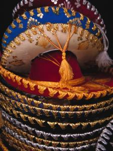 Stack of Sombreros For Sale, Puerto Vallarta, Mexico by Merrill Images