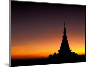 Sunset Sillouhette of Buddhist Temple, Thailand by Merrill Images