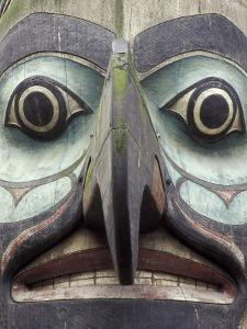 Totem Pole in Pioneer Square, Seattle, Washington, USA by Merrill Images