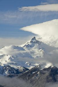 Usa, Washington State, Crystal Mountain. View of Little Tahoma on Mount Rainier by Merrill Images