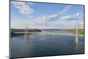 USA, Washington State, Tacoma. Tacoma Narrows Bridge spanning the Tacoma Narrows strait by Merrill Images