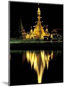 Wat Chong Klang and Reflection in Chong Kham Lake, Thailand by Merrill Images