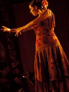 Woman in Flamenco Dress at Feria de Abril, Sevilla, Spain by Merrill Images