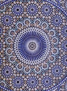 Zellij (Geometric Mosaic Tilework) Adorn Walls, Morocco by Merrill Images