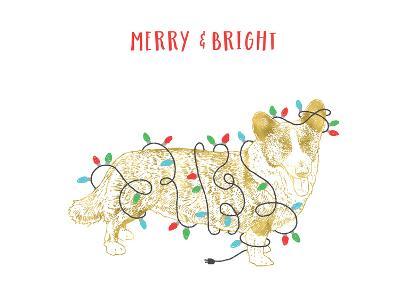 Merry And Bright Dog-Advocate Art-Art Print