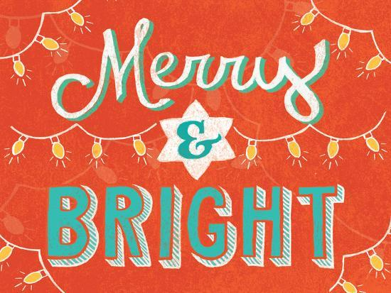Merry and Bright-Mary Urban-Art Print