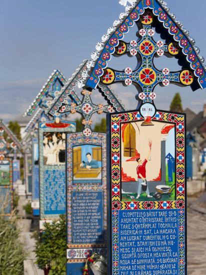 Merry Cemetery, Sapanta, Maramures, Romania, Europe-Marco Cristofori-Photographic Print