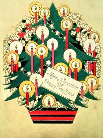 Merry Christmas and a Happy New Year', Christmas Card--Giclee Print