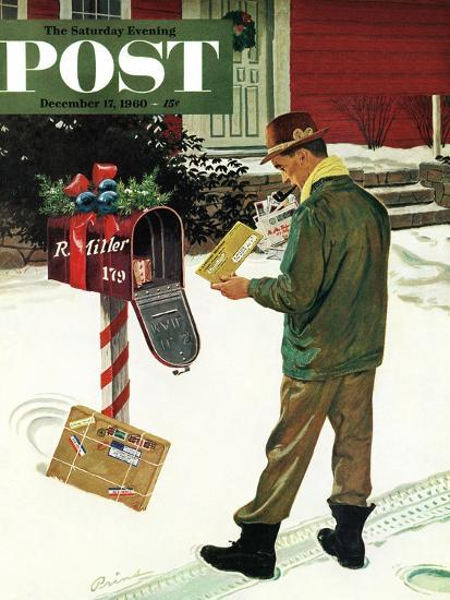 """Merry Christmas from the IRS,"" Saturday Evening Post Cover, December 17, 1960-Ben Kimberly Prins-Giclee Print"