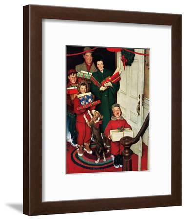 """Merry Christmas, Grandma!'-Norman Rockwell-Framed Giclee Print"