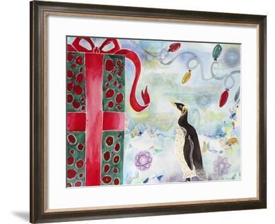 Merry Christmas Penguin-Lauren Moss-Framed Giclee Print