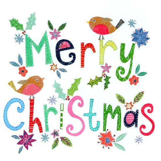 Merry Christmas Robins-Liz and Kate Pope-Art Print