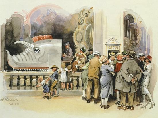 Merry-Go-Round at Vienna Prater, 1925--Giclee Print