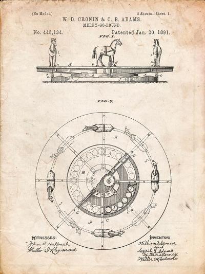 Merry Go Round Patent-Cole Borders-Art Print