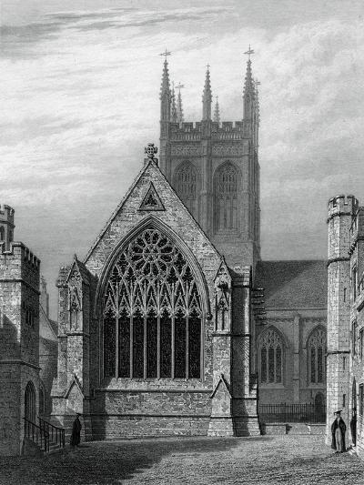 Merton College Chapel, from the Quadrangle, Oxford, 1834-John Le Keux-Giclee Print