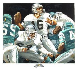 NFL Superbowl XV (Jim Plunkett) by Merv Corning