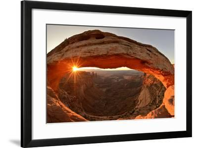 Mesa Arch Above the Colorado River Valley at Sunrise-Raul Touzon-Framed Photographic Print