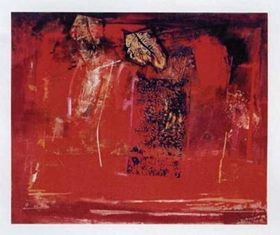 Mesa Roja-Justo San Felices-Art Print