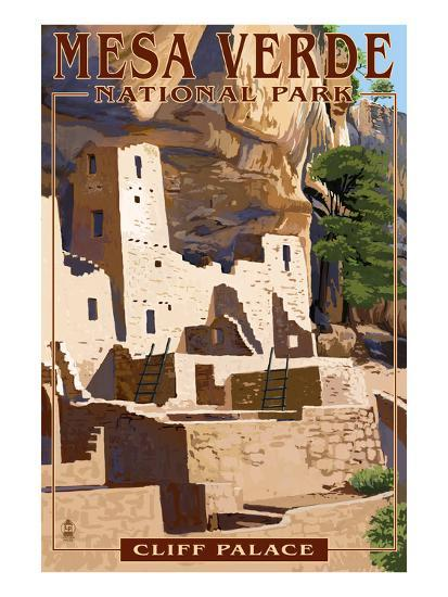 Mesa Verde National Park, Colorado - Cliff Palace-Lantern Press-Art Print