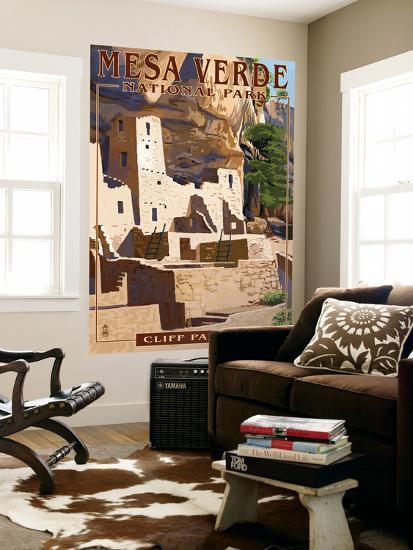 Mesa Verde National Park, Colorado - Cliff Palace-Lantern Press-Wall Mural