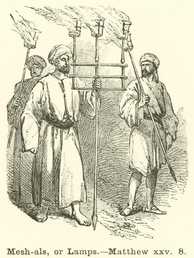 Mesh-Als, or Lamps, Matthew, XXV, 8--Giclee Print