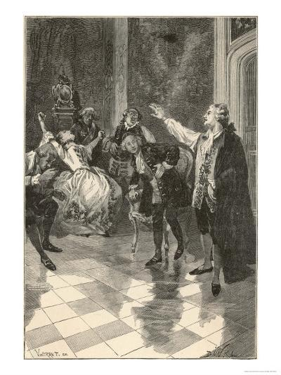 Mesmer Gives a Demonstration at His House in the Place Vendome Paris--Giclee Print