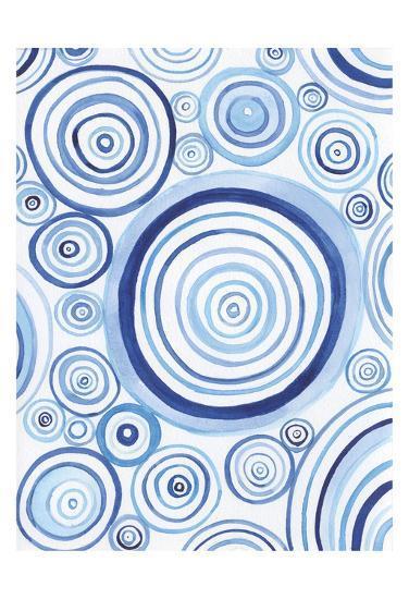 Mesmerized Blues 1-Pam Varacek-Art Print