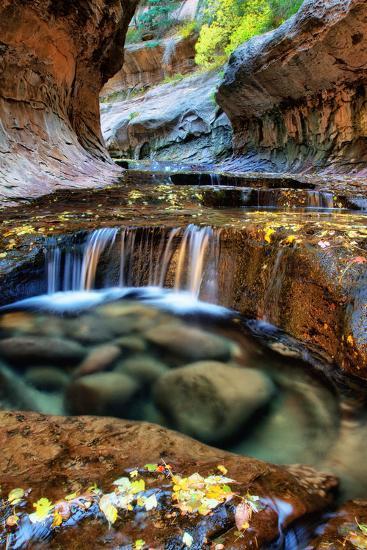 Mesmerizing & Beautiful Subway in Autumn at Zion National Park Utah-Vincent James-Photographic Print