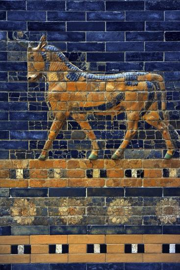 Mesopotamian Art. Neo-Babylonian. Ishtar Gate, One of the Eight Gates of the Inner Wall of…--Giclee Print