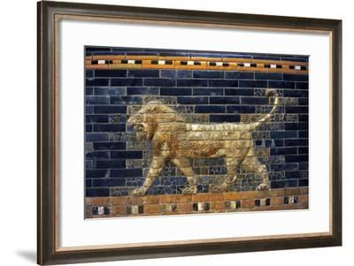 Mesopotamian Art. Neo-Babylonian. The Throne Room of Nebuchadnezzar II. Reconstructed Facade.…--Framed Giclee Print