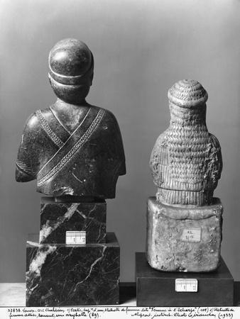 Woman with the Shawl, Woman Holding an Aryballos, Neo-Sumerian, Telloh, Ancient Girsu, c.2150 BC
