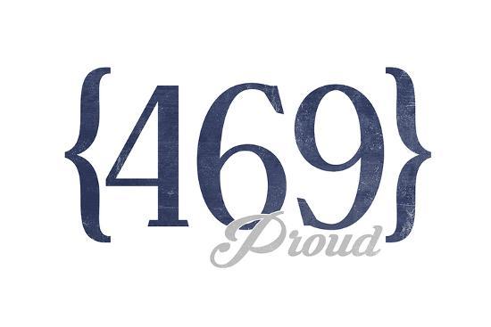 Mesquite, Texas - 469 Area Code (Blue)-Lantern Press-Art Print
