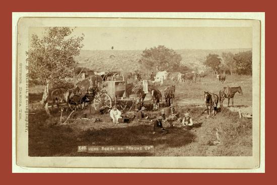 Mess Scene on Round Up-John C. H. Grabill-Giclee Print