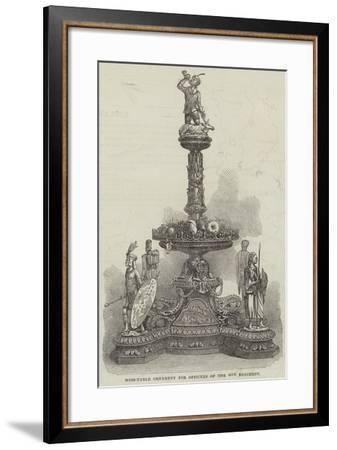 Mess-Table Ornament for Officers of the 45th Regiment--Framed Giclee Print