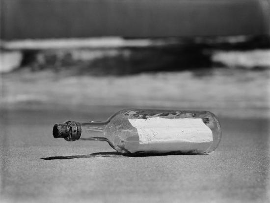 Message in Bottle on Shore-H^ Armstrong Roberts-Photographic Print
