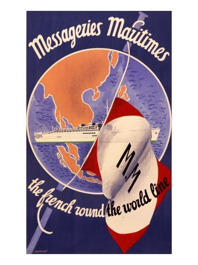 Messageries Maritimes Poster--Giclee Print