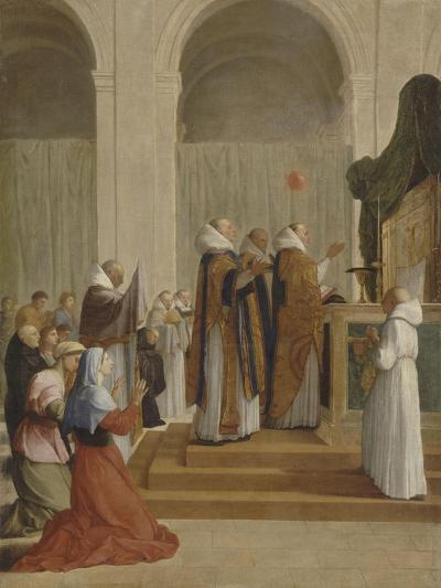 Messe de saint Martin, évêque de Tours-Eustache Le Sueur-Giclee Print
