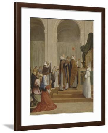 Messe de saint Martin, évêque de Tours-Eustache Le Sueur-Framed Giclee Print